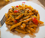 Penne with Spicy and Ground Pork